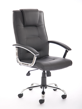 Picture of Office Chair Company Thrift Executive Chair Black Bonded Leather With Padded Arms