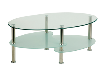 Picture of Office Chair Company Berlin Coffee Table With Chrome Legs And Shelves