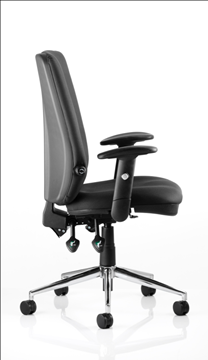 Picture of Office Chair Company Chiro Task Operators Chair Black With Height Adjustable And Folding Arms High Back