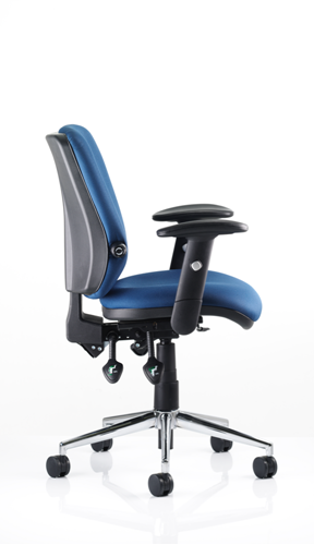 Picture of Office Chair Company Chiro Task Operators Chair Blue With Arms Medium Back
