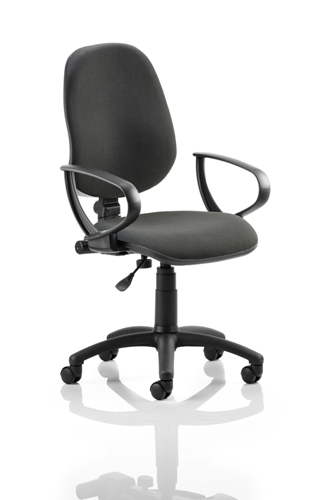 Picture of Office Chair Company Eclipse I Lever Task Operator Chair Black With Loop Arms