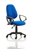 Picture of Office Chair Company Eclipse I Lever Task Operator Chair Blue With Loop Arms