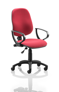 Picture of Office Chair Company Eclipse I Lever Task Operator Chair Wine With Loop Arms