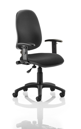 Picture of Office Chair Company Eclipse I Lever Task Operator Chair Black With Height Adjustable Arms