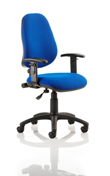 Picture of Office Chair Company Eclipse I Lever Task Operator Chair Blue With Height Adjustable Arms