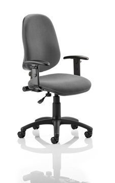 Picture of Office Chair Company Eclipse I Lever Task Operator Chair Charcoal With Height Adjustable Arms