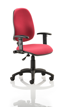 Picture of Office Chair Company Eclipse I Lever Task Operator Chair Wine With Height Adjustable Arms