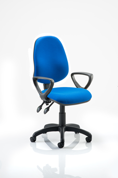 Picture of Office Chair Company Eclipse II Lever Task Operator Chair Blue With Loop Arms