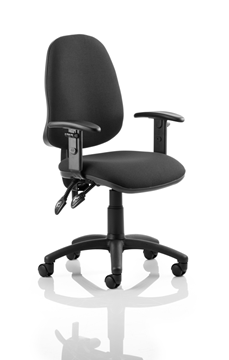 Picture of Office Chair Company Eclipse II Lever Task Operator Chair Black With Height Adjustable Arms