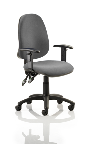 Picture of Office Chair Company Eclipse II Lever Task Operator Chair Charcoal With Height Adjustable Arms