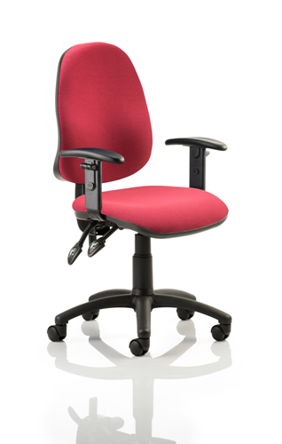 Picture of Office Chair Company Eclipse II lever Task Operator Chair Wine With Height Adjustable Arms