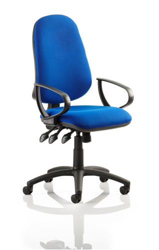 Picture of Office Chair Company Eclipse XL III Lever Task Operator Chair Blue With Loop Arms