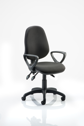 Picture of Office Chair Company Eclipse III  Lever Task Operator Chair Black With Loop Arms
