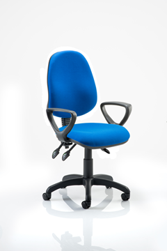 Picture of Office Chair Company Eclipse III Lever Task Operator Chair Blue With Loop Arms