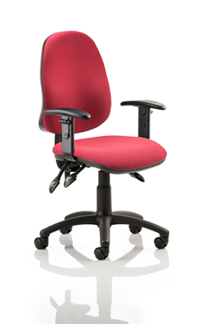 Picture of Office Chair Company Eclipse III Lever Task Operator Chair Wine With Height Adjustable Arms