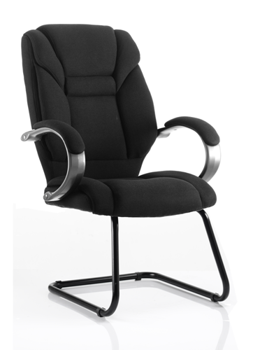 Picture of Office Chair Company Galloway Visitor Cantilever Chair Black Fabric With Arms