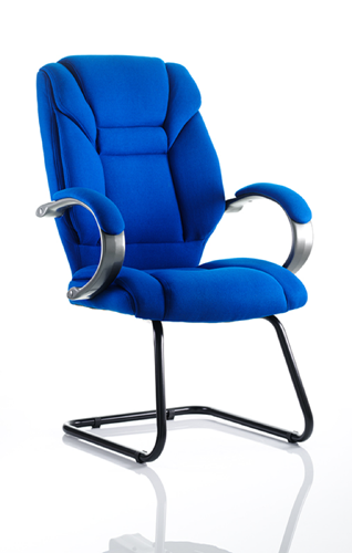 Picture of Office Chair Company Galloway Visitor Cantilever Chair Blue Fabric With Arms