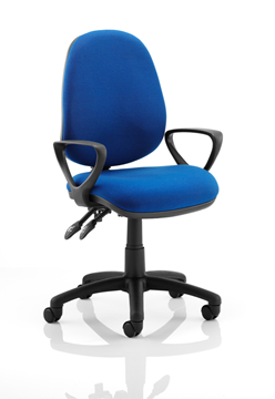 Picture of Office Chair Company Luna II Lever Task Operator Chair Blue With Loop Arms