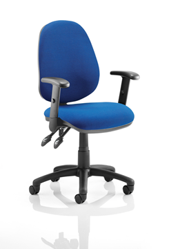 Picture of Office Chair Company Luna II Lever Task Operator Chair Blue With Height Adjustable Arms