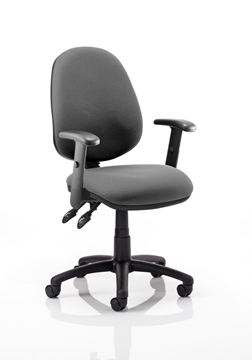 Picture of Office Chair Company Luna II Lever Task Operator Chair Charcoal With Height Adjustable Arms