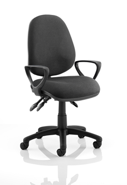 Picture of Office Chair Company Luna III Lever Task Operator Chair Black With Loop Arms