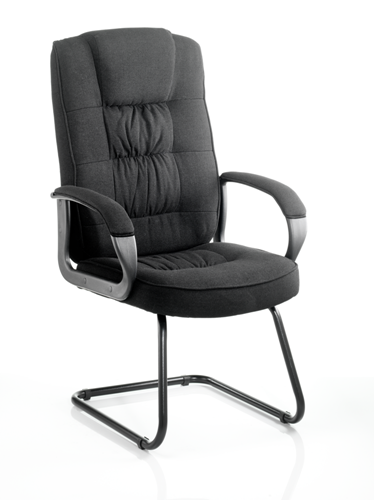 Picture of Office Chair Company Moore Visitor Cantilever Black Fabric With Arms