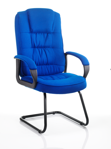 Picture of Office Chair Company Moore Visitor Cantilever Blue Fabric With Arms