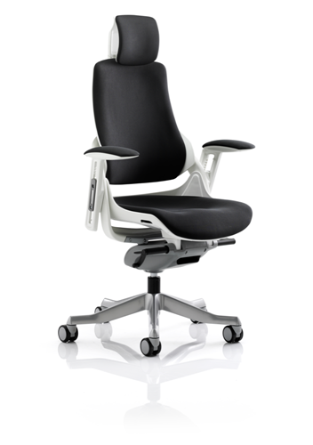 Picture of Office Chair Company Zure Executive Chair Black Fabric With Arms With Headrest