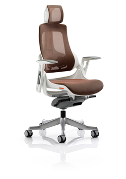 Picture of Office Chair Company Zure Executive Chair Mandarin Mesh With Arms With Headrest