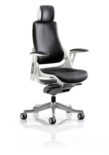 Picture of Office Chair Company Zure Executive Chair Black Leather With Arms With Headrest