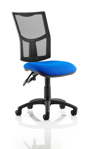 Picture of Office Chair Company Eclipse II Lever Task Operator Chair Mesh Back With Blue Seat