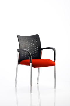 Picture of Office Chair Company Academy Bespoke Colour Seat With Arms Pimento