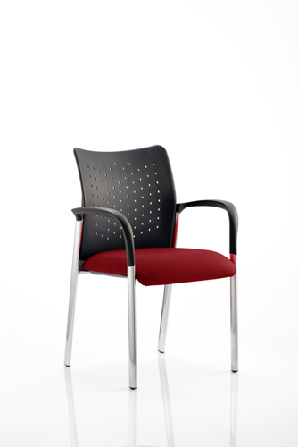 Picture of Office Chair Company Academy Bespoke Colour Seat With Arms Chilli