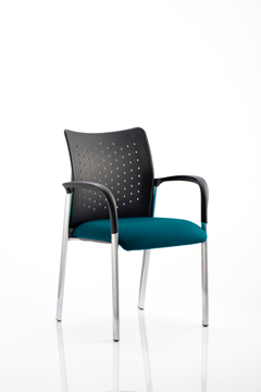 Picture of Office Chair Company Academy Bespoke Colour Seat With Arms Kingfisher