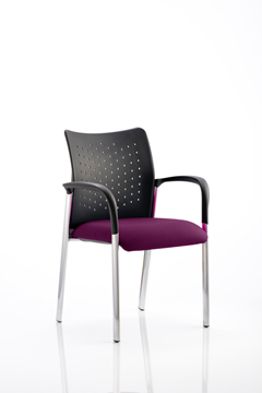 Picture of Office Chair Company Academy Bespoke Colour Seat With Arms Purple