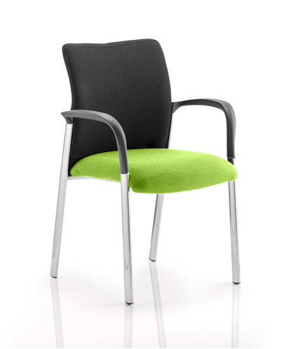 Picture of Office Chair Company Academy Black Fabric Back Bespoke Colour Seat With Arms Swizzle