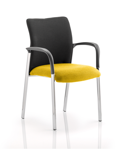 Picture of Office Chair Company Academy Black Fabric Back Bespoke Colour Seat With Arms Sunset