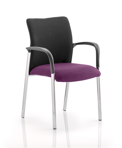 Picture of Office Chair Company Academy Black Fabric Back Bespoke Colour Seat With Arms Purple
