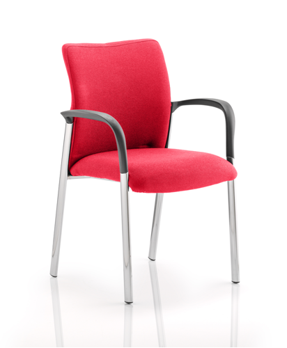 Picture of Office Chair Company Academy Bespoke Colour Fabric Back And Bespoke Colour Seat With Arms Cherry