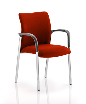 Picture of Office Chair Company Academy Bespoke Colour Fabric Back And Bespoke Colour Seat With Arms Pimento