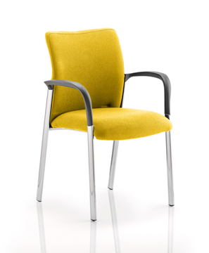 Picture of Office Chair Company Academy Bespoke Colour Fabric Back And Bespoke Colour Seat With Arms Sunset