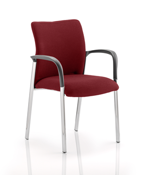 Picture of Office Chair Company Academy Bespoke Colour Fabric Back And Bespoke Colour Seat With Arms Chilli