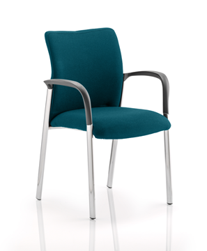 Picture of Office Chair Company Academy Bespoke Colour Fabric Back And Bespoke Colour Seat With Arms Kingfisher