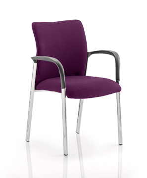 Picture of Office Chair Company Academy Bespoke Colour Fabric Back And Bespoke Colour Seat With Arms Purple