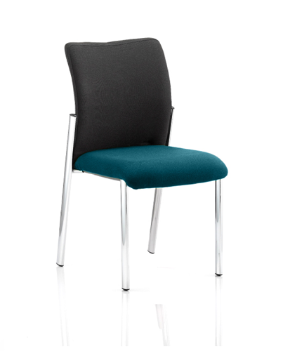 Picture of Office Chair Company Academy Black Fabric Back Bespoke Colour Seat Without Arms Kingfisher