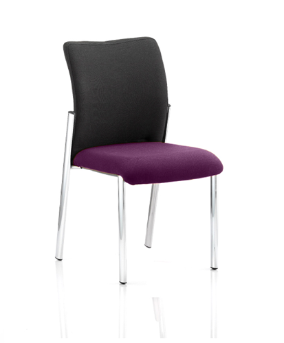 Picture of Office Chair Company Academy Black Fabric Back Bespoke Colour Seat Without Arms Purple