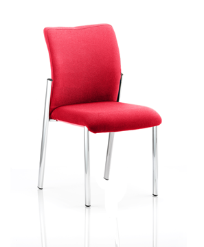 Picture of Office Chair Company Academy Bespoke Colour Fabric Back With Bespoke Colour Seat Without Arms Cherry
