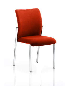Picture of Office Chair Company Academy Bespoke Colour Fabric Back With Bespoke Colour Seat Without Arms Pimento
