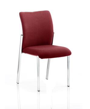 Picture of Office Chair Company Academy Bespoke Colour Fabric Back With Bespoke Colour Seat Without Arms Chilli