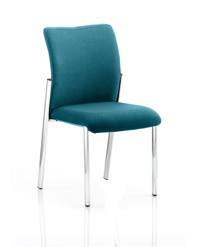 Picture of Office Chair Company Academy Bespoke Colour Fabric Back With Bespoke Colour Seat Without Arms Kingfisher